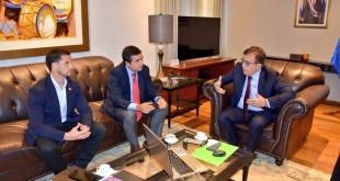 Durante la reunión entre el director de Yacyretá y el titular del Ministerio de Justicia.