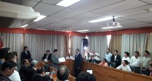 Luego, por unanimidad, designaron a Alcibiades Quiñónez como nuevo Intendente de San Lorenzo. Foto: 780 AM.