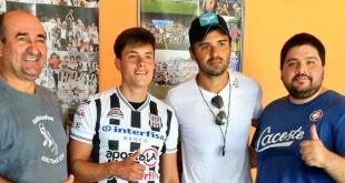 Francisco García nuevo futbolista del Deportivo Santaní. (Foto Prensa Santaní)