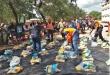 Unos 500 kits de alimentos (20 kg cada uno)  fueron distribuidos a las familias que son pequeños agricultores en la zona ribereña.