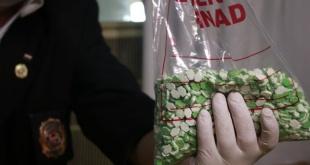 En total fueron interceptados unos 20 kilos 42 Gramos de éxtasis que representan unas 40.084 pastillas.