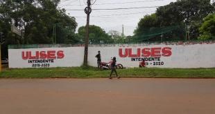 Esta semana realizaron pintatas promocionando el nombre de Ulises Quintana, preso en Viñas Cué, como candidato a intendente.