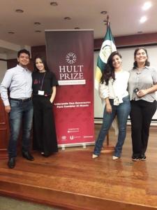 Aramí Encina, Selfiria Orzusa, Patricia Fernández y Cesar Soler. Foto: Gentileza.