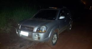 Uno de los vehículos hallados es una camioneta de la marca Hyundai, modelo Tucson, de color plata, con chapa brasileña Nº ENQ 1142. Foto: Gentileza.
