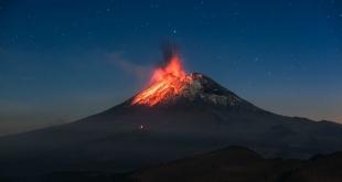 El volcán inició actividad este jueves 14 de febrero, durante siete horas, con emisión prolongada de materia y fragmentos incandescentes. Foto:  @Popocatepetl_MX.