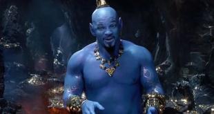 Will Smith interpreta al Genio de la lámpara de Aladín.