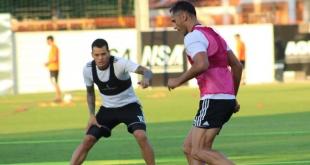 El plantel del Olimpia trabaja en Para Uno de cara al juego ante Sol de América. (Foto Prensa Olimpia).