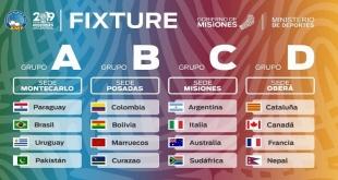 Quedaron establecidas las series para la disputa del 12° Campeonato Mundial de fútbol de salón, Misiones, Argentina 2019.