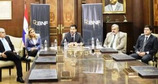 El presidente del BNF, Daniel Correa, y otras autoridades. Foto: IP