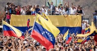 Juan Guaidó, durante un mitin realizado en la ciudad de Carabobo.