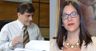 Rene Fernández, fiscal anticorrupción. Josefina Aghemo, fiscal anticorrupción.