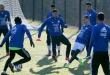 La Albirroja está lista para el amistoso ante Perú. Eduardo Berizzo debuta como DT del seleccionado nacional. (Foto Prensa Albirroja).