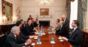 El encuentro entre el presidente brasileño Jair Bolsonaro y Luis Almagro en la OEA: