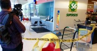 El atraco sucedió en el interior de un supermerado, en la ciudad de Fernando de la Mora. Foto: Ever Benegas - Radio 970 AM.