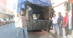 Desde la sede central de la Justicia Electoral hasta el Juzgado Electoral de Ciudad del Este, fueron trasladados varios maletines.