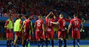 Los jugadores de Cerro festejan el triunfo: Foto.