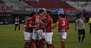 Los goles para el Ciclón lo hicieron Marcos Acosta Rojas, Jorge Benítez y Alberto Espínola, para Santaní anotó Cristian Aguada. Foto: Andrés Zárate - ADN Paraguayo.