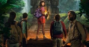 """Afiche oficial de la película de acción real """"Dora y la ciudad perdida""""."""