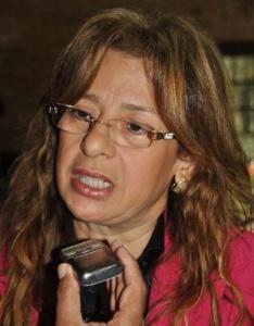Lilian González de Aguinagalde, precandidata.