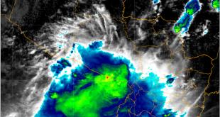 Núcleos de tormentas continúan desarrollándose sobre el territorio nacional.