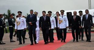 El presidente de la República, Mario Abdo Benítez, y su comitiva, retornaron esta misma tarde. Foto: MRE.