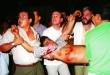 Uno de los jóvenes herido mortalmente. Fueron siete los que perdieron la vida ese fatídico día.