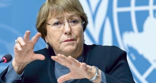 La Alta Comisionada de la ONU para los Derechos Humanos Michelle Bachelet.