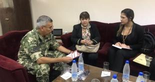 La directora general del Servicio Nacional de Promoción Profesional (SNPP), Addis Merlo de Maciel, se reunió con el comandante del Regimiento Escolta Presidencial, Cnel. DCEM Manuel Rodríguez Sosa.
