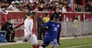 El estreno de Eduardo Berizzo al frente de la Selección Paraguaya se inició con una derrota frente a Perú por 1-0. (Prensa Albirroja)