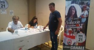 El Partido de la Juventud es una de las agrupaciones políticas que se presentan con lista única, postula a Lilian Canale. Foto: TSJE.