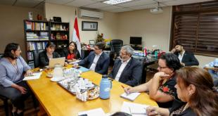 Durante el encuentro realizado entre las autoridades del MEC y Cultura.