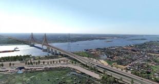 De esta manera quedaría el puente que unirá a Chaco`i con Asunción. (Gentileza)