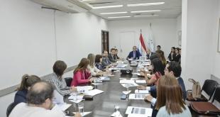 Durante la reunión interinstitucional en la Cancillería Nacional.