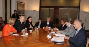 Reunión del ministro del Interior con la representante de la Unión Europea para las Américas.