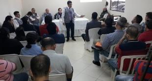 De la reunión de trabajo de la que participaron, apoderados de los partidos  y de los Movimientos Políticos independientes que presentarán candidatos a la intendencia de Ciudad del Este.