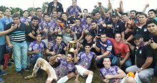 El conjunto santo, con la obtención del título también clasificó para disputar la Copa Paraguay. Foto: Gentileza.