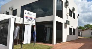 La ganadería de nuevo experimentó una caída en sus exportaciones. Edificio de Senacsa en Ñeembucú.
