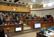 Los senadores durante la sesión de la Cámara de Senadores de este jueves. Foto: @SenadoresPy.