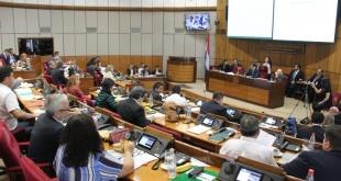 Durante la sesión ordinaria de la Cámara de Senadores de este martes se inició el juicio político a García. Foto: Senado.