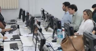Transmisión de datos TREP en Ciudad del Este. El simulacro fue exitoso, informó la Justicia Electoral.