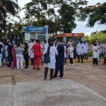 Personales de blanco piden ser incorporados al Ministerio de Salud Pública
