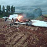 Avioneta cae y deja dos fallecidos