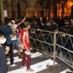Veinte heridos en acto de protesta