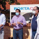 Inversión con recursos propios de Gobernación de Paraguarí en mejoras de red para provisión de oxígeno en tres hospitales