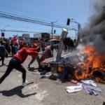 Marcha antiinmigrantes termina con incidentes violentos en Chile
