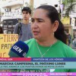 Campesinos repudian media sanción a ley que eleva castigo a invasores y siguen movilizados